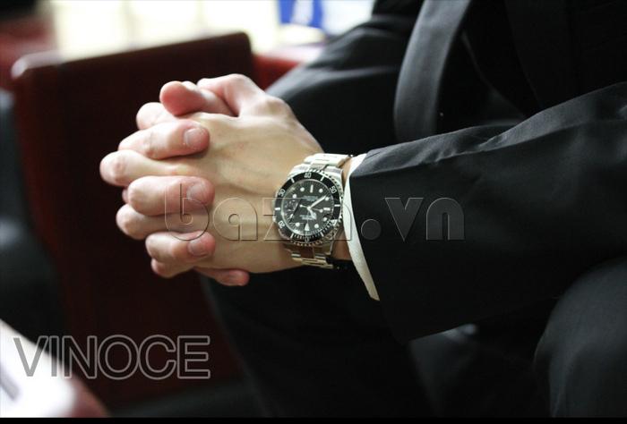 Đồng hồ nam viền khắc số, chống nước hoàn hảo Vinoce 6332222 thiết kế chính hãng