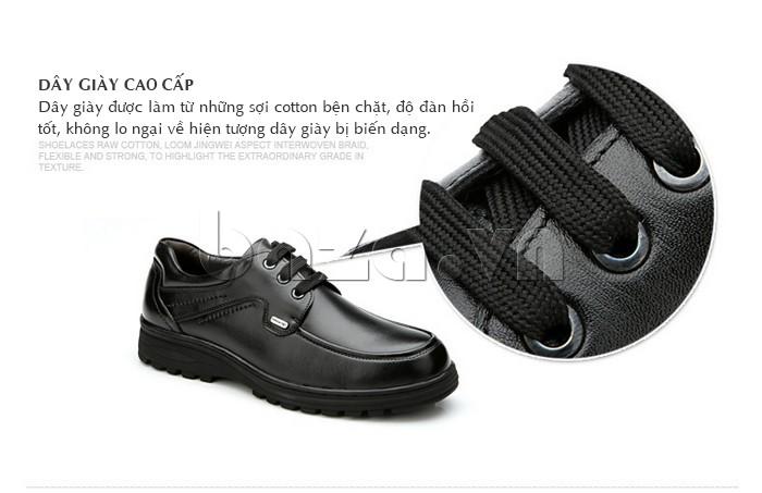 Dây giày làm từ sợi cotton bền chặt , đàn hồi tốt, không lo biến dạng
