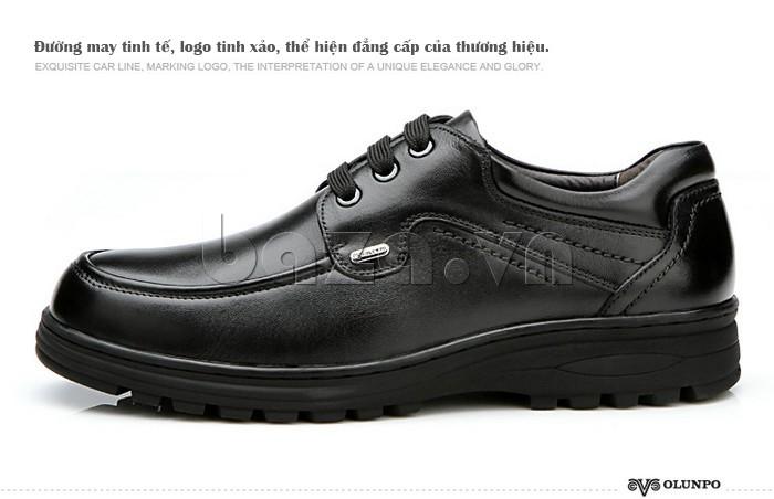 Giầy da nam thời trang Olunpo QYS1202 thể hiện đẳng cấp thương hiệu giày nam
