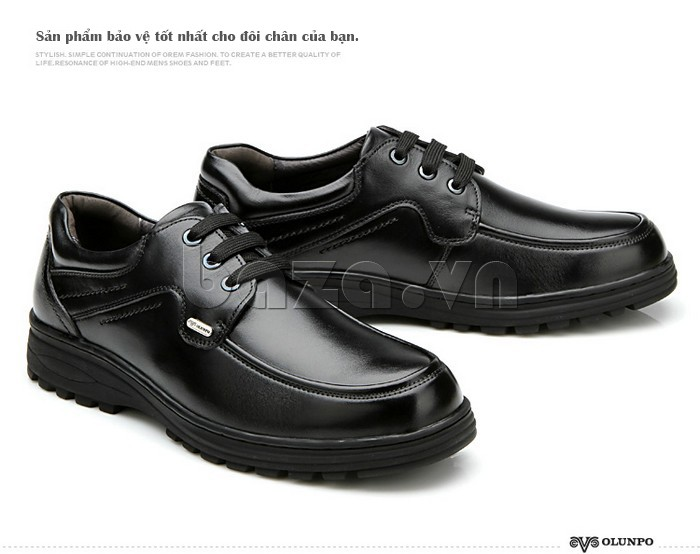 Giầy da nam thời trang Olunpo QYS1202 bảo vệ tốt nhất cho đôi chân của bạn