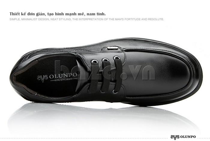 Thiết kế Giầy da nam thời trang Olunpo QYS1202 đơn giản mà vẫn nam tính
