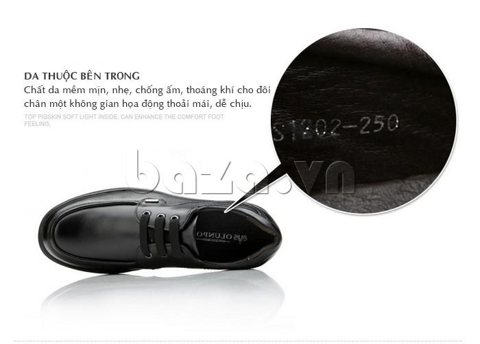 Chất da mềm min lót bên trong giày nam cho bàn chân luôn thoải mái