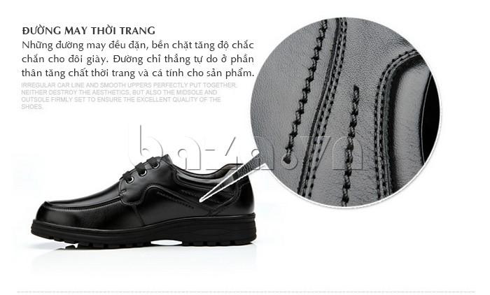 Giầy da nam thời trang Olunpo QYS1202 đường may thời trang, bền chặt