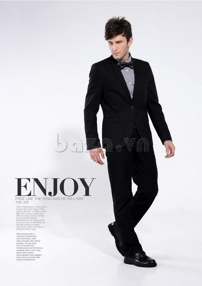 Giầy da nam thời trang Olunpo QYS1202 cao cấp