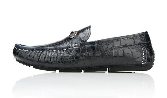 Giầy da nam Olunpo CJY1403 thiết kế giày lười dễ đi, tiện lợi