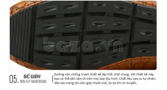 Giầy da nam Olunpo CJY1403 với đế giày được thiết kế lập thể, chống trơn trượt