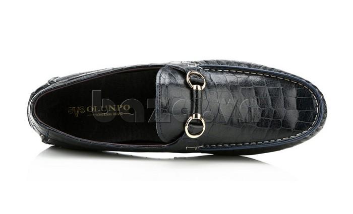 Giầy da nam Olunpo CJY1403 được gắn móc khóa thời trang ngay lưỡi giày