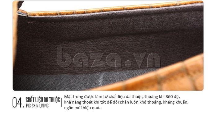 Giầy da nam Olunpo CJY1403 mặt trong chất liệu da thuộc thoáng khí