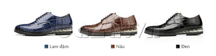 Giày da nam OLUNPO QDT1301 có nhiều màu sắc để lựa chọn