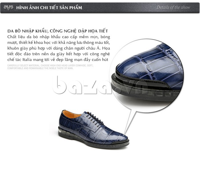 Giày da nam OLUNPO QDT1301 được làm từ da bò nhập khẩu