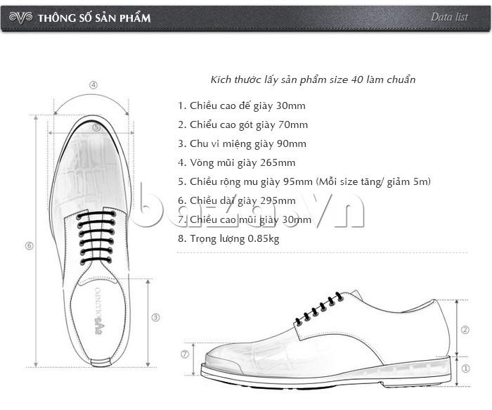 Giày da nam OLUNPO QDT1301 với nhiều thông số sản phẩm