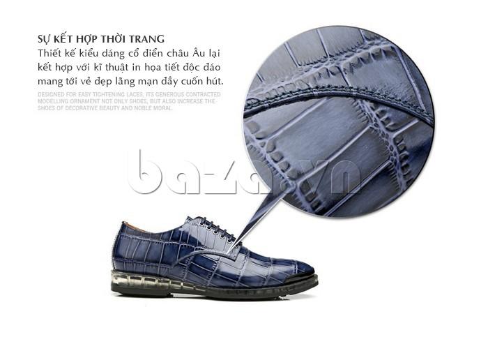 Giày da nam OLUNPO QDT1301 là sự kết hợp thời trang giữa kiểu dáng và kỹ thuật