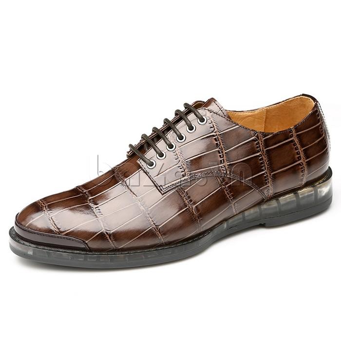 Giày da nam OLUNPO QDT1301 màu nâu cổ điển đầy vẻ đẹp cao quý