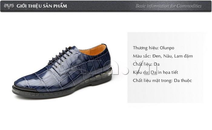 Giới thiệu Giày da nam OLUNPO QDT1301
