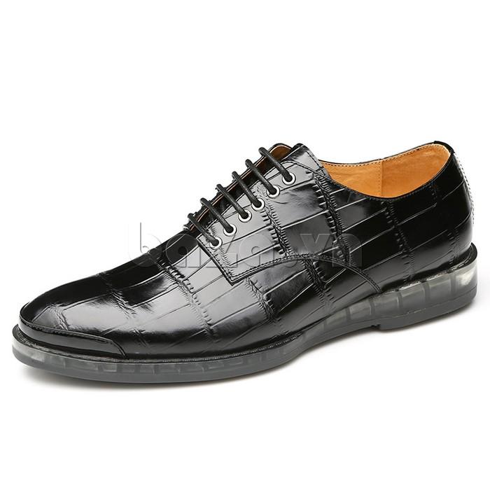 Giày da nam OLUNPO QDT1301 màu đen phù hợp với phong cách doanh nhân thành đạt
