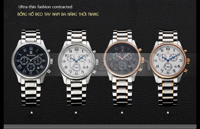 4 phiên bản của đồng hồ Bestdon Chronograph dây đeo kim loại
