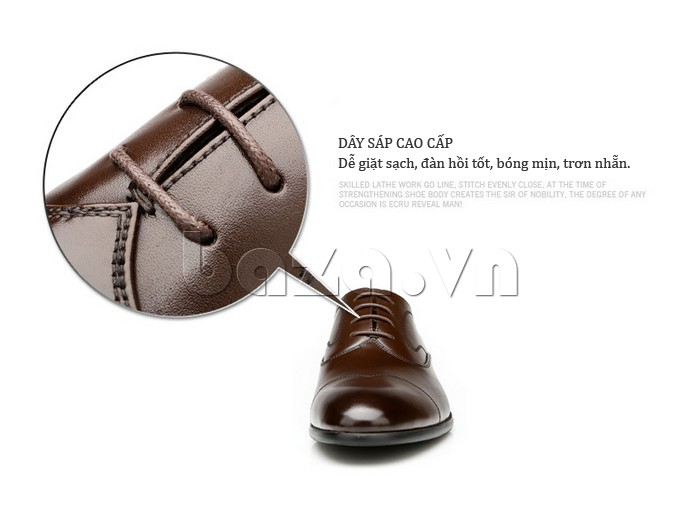 Giầy da nam thời trang Olunpo QLXS1309 dây sáp cao cấp dễ dùng