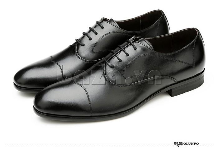 Giầy da nam thời trang Olunpo QLXS1309 có đường may thời trang trên thân giày