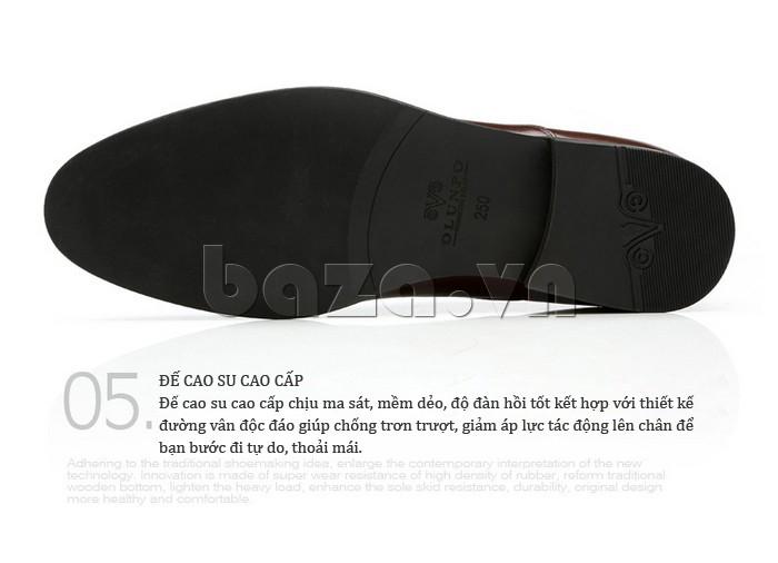 Giầy da nam thời trang Olunpo QLXS1309 có đế cao su mềm dẻo