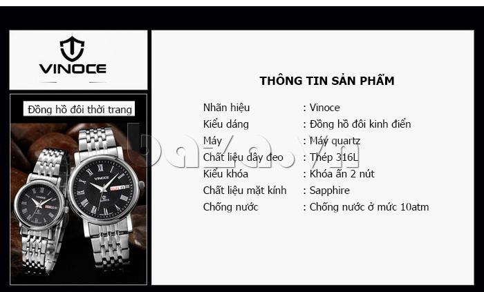 Đồng hồ đôi Vinoce V8373 chất lượng