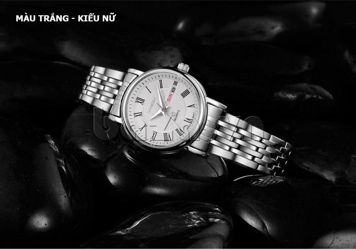 Đồng hồ đôi Vinoce V8373 thiết kếcá tính