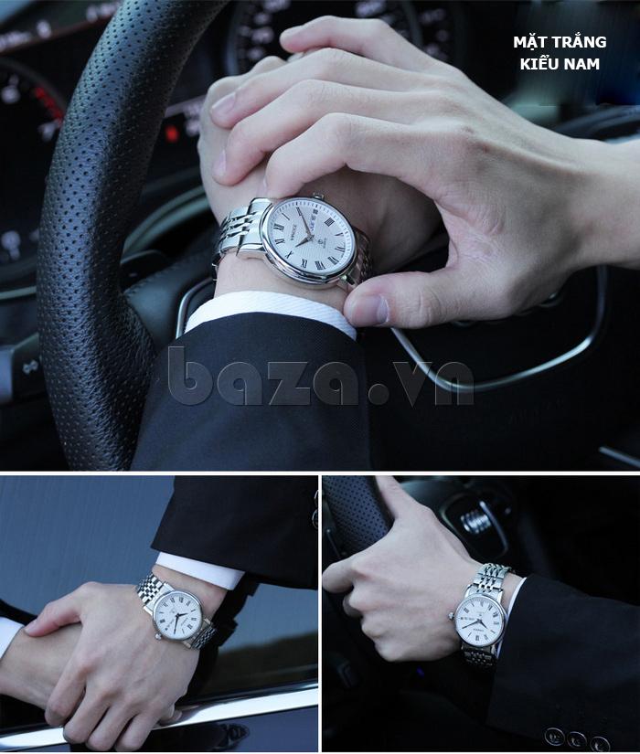 Đồng hồ đôi Vinoce V8373 thiết kế bền đẹp