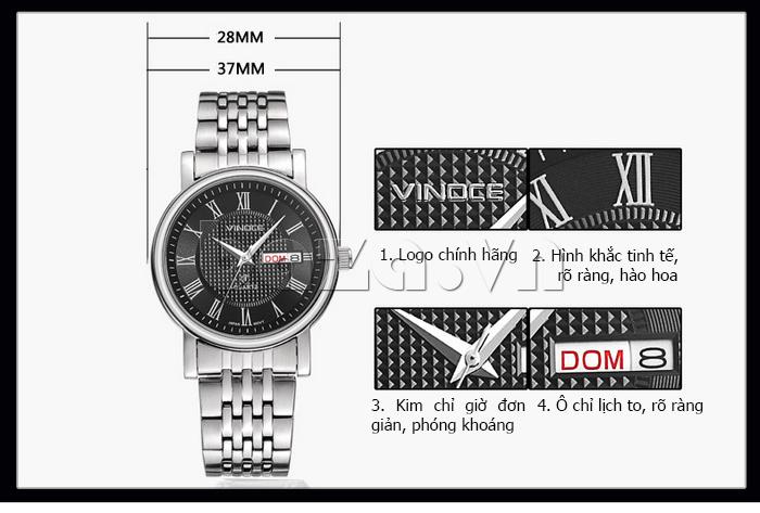 Đồng hồ đôi Vinoce V8373 chính hãng