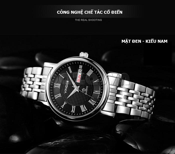 Đồng hồ đôi Vinoce V8373 thiết kế chính hãng