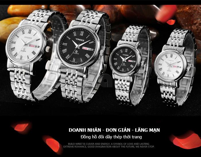 Đồng hồ đôi Vinoce V8373 ĐẸP