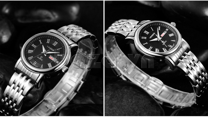 Đồng hồ đôi Vinoce V8373 thiết kế tinh tế