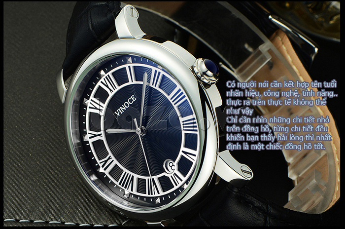 Đồng hồ thời trang nam Vinoce V3281G sáng bóng