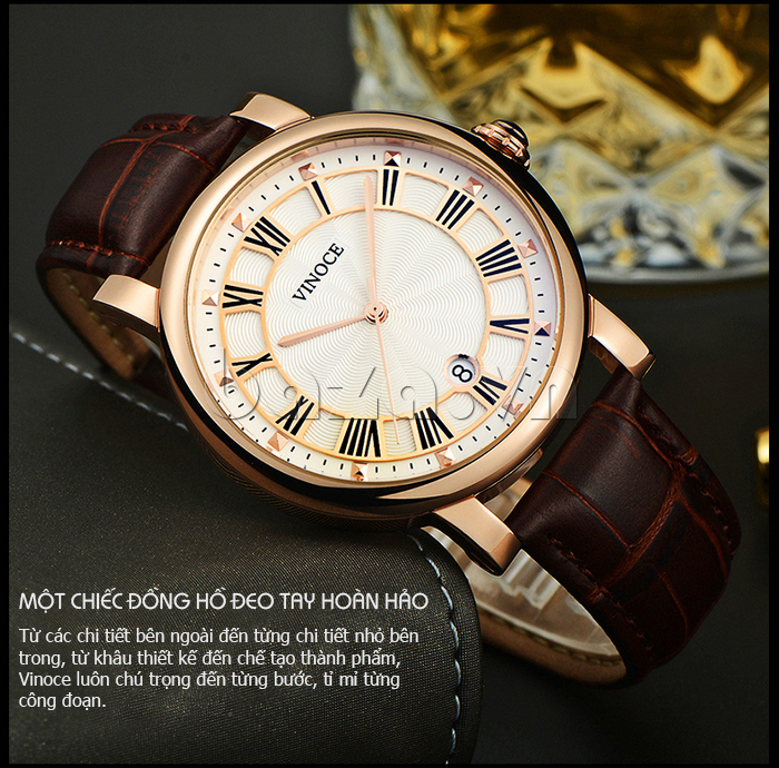 Đồng hồ thời trang nam Vinoce V3281G chất lượng
