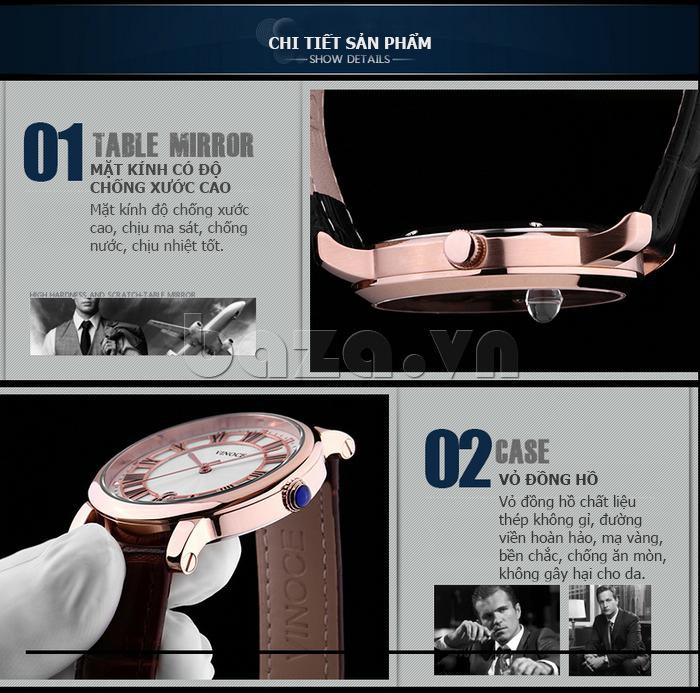 Đồng hồ thời trang nam Vinoce V3281G mặt tròn cổ điển
