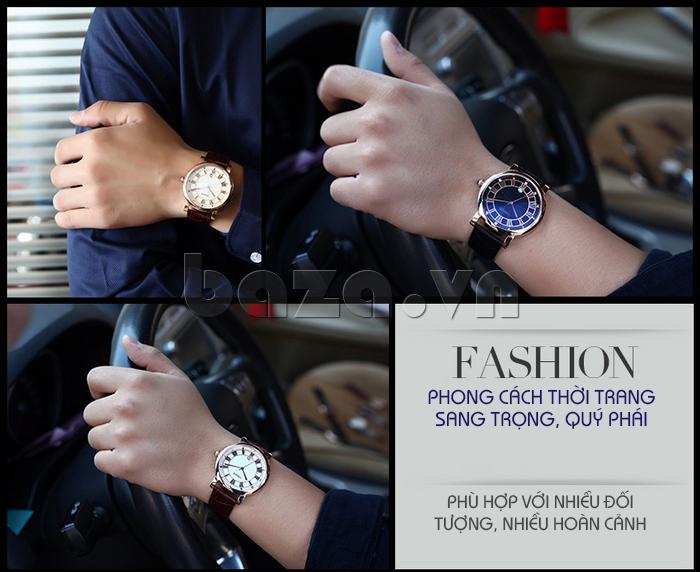 Đồng hồ thời trang nam Vinoce V3281G mặt tròn