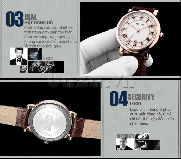 Đồng hồ thời trang nam Vinoce V3281G tinh xảo hoàn hảo