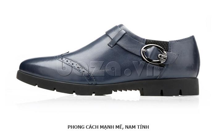 Giày da nam Olunpo QXD1403  phong cách mạnh mẽ
