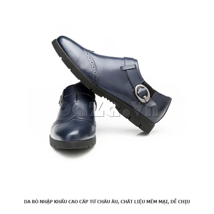 Giày da nam Olunpo QXD1403  thiết kế độc đáo