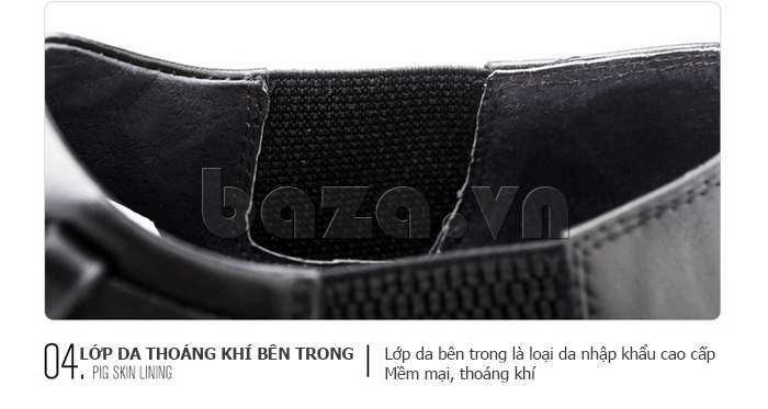 Giày da nam Olunpo QXD1403  làm từ da thuộc cao cấp