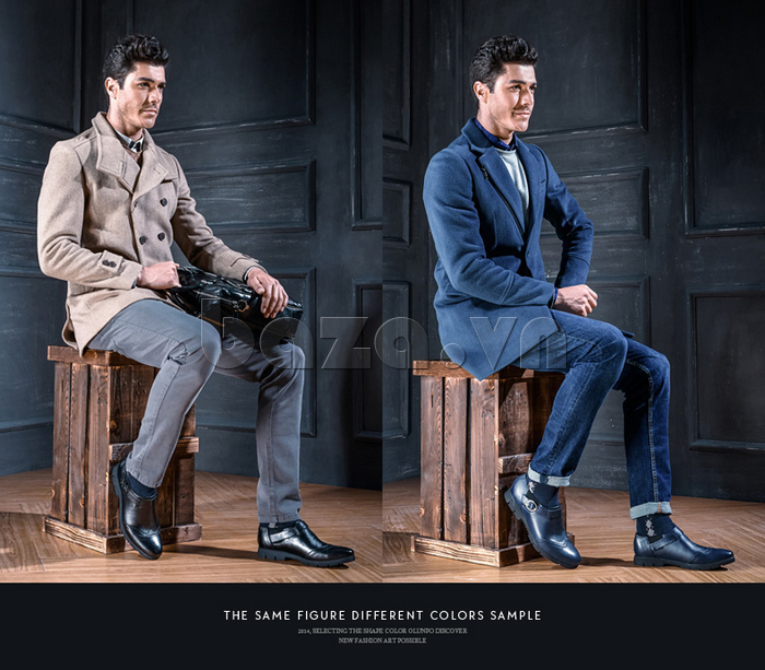 Giày da nam Olunpo QXD1403  giúp nam giới lịch lãm