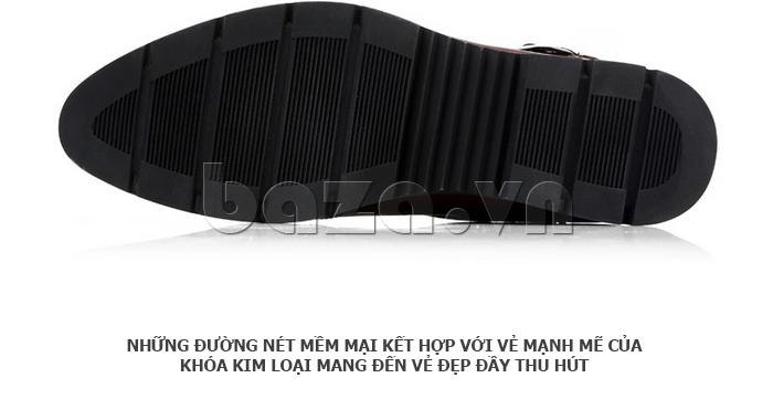 Giày da nam Olunpo QXD1403  đế cao su
