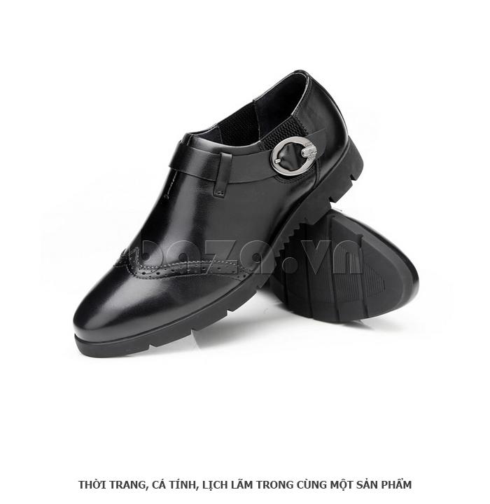 Giày da nam Olunpo QXD1403  màu đen cuốn hút