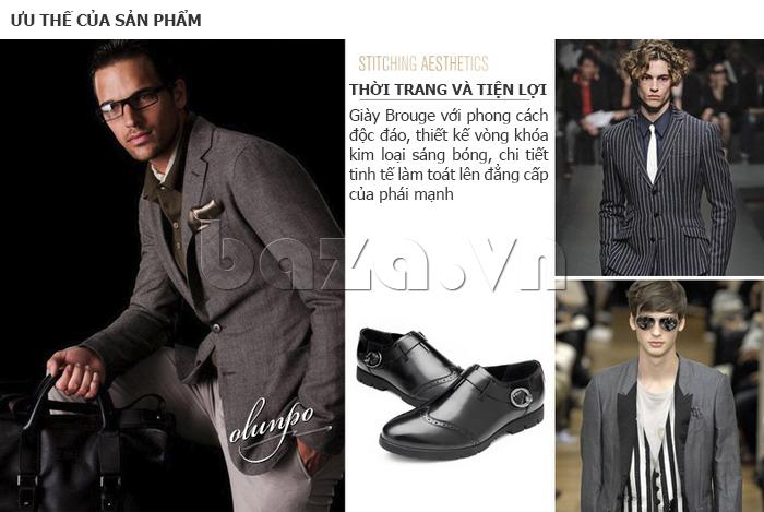 ưu thế của Giày da nam Olunpo QXD1403