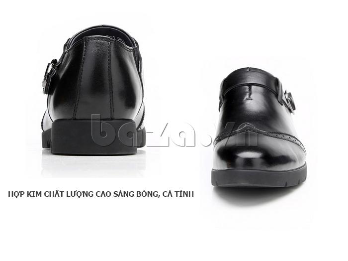 Giày da nam Olunpo QXD1403  khóa thời trang co giãn tốt