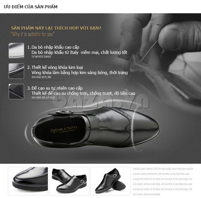 ưu điểm của Giày da nam Olunpo QXD1403