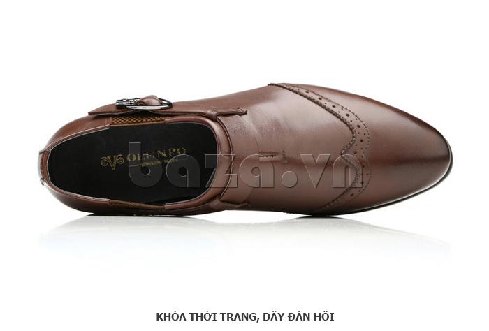 Giày da nam Olunpo QXD1403  cá tính thời trang