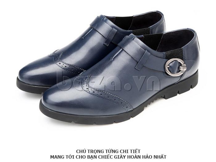 Giày da nam Olunpo QXD1403  kiểu dáng không buộc dây