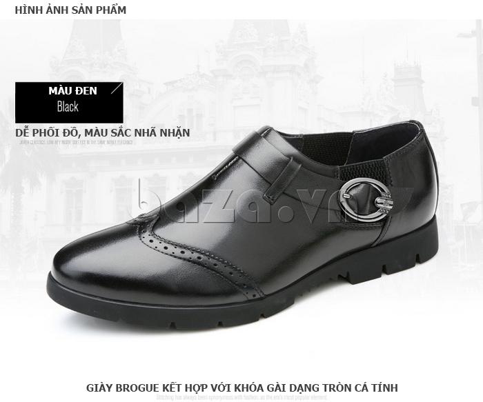 Giày da nam Olunpo QXD1403  dễ phối đồ