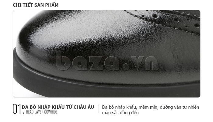 chi tiết của Giày da nam Olunpo QXD1403