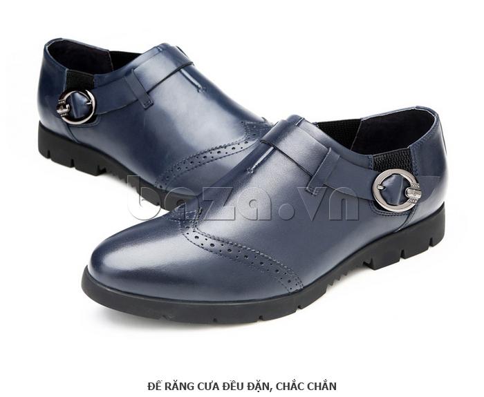 Giày da nam Olunpo QXD1403  có đai khóa ấn tượng