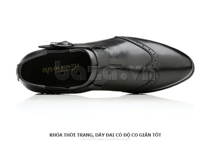 Giày da nam Olunpo QXD1403  cá tính